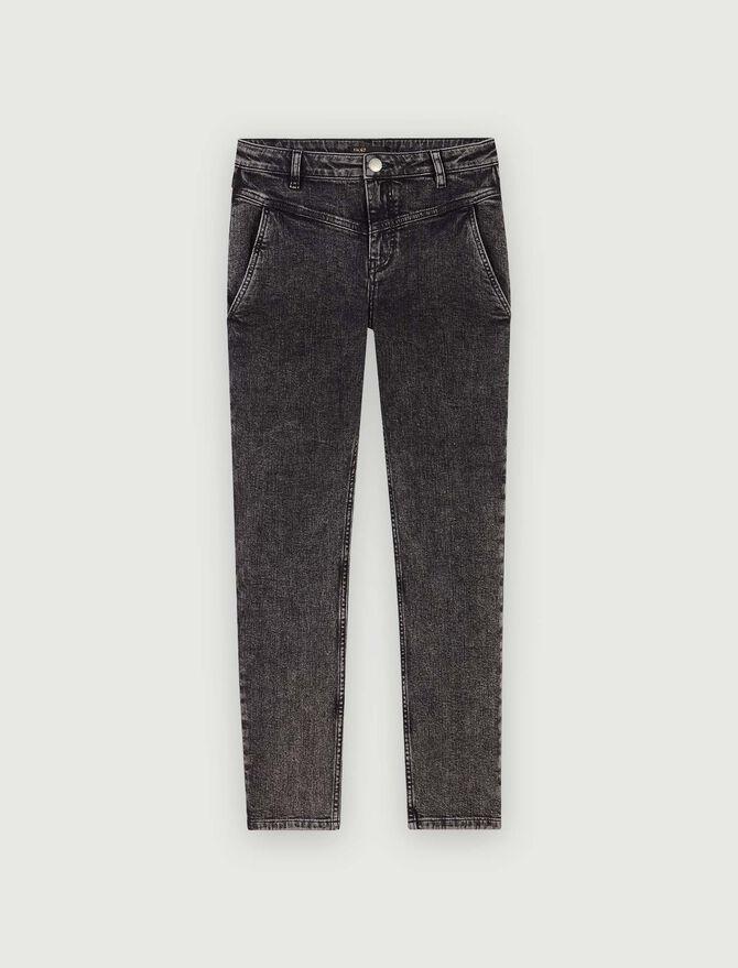 Vaquero recto con bolsillos y cortes - Pantalones & Jeans - MAJE