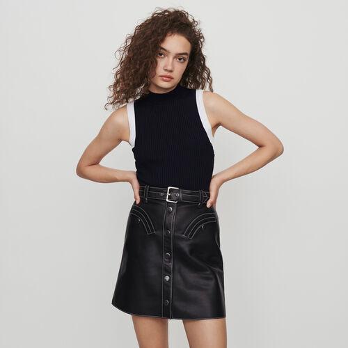 Jersey sin mangas canale a contraste : Colección invierno color Negro