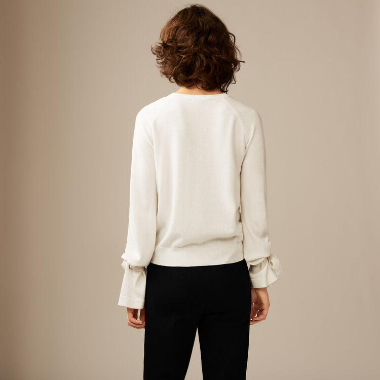 Fine rib-knit : Malla color Crudo