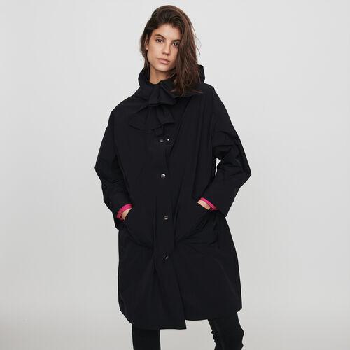 Parka tipo rompevientos a capucha : Colección invierno color Negro
