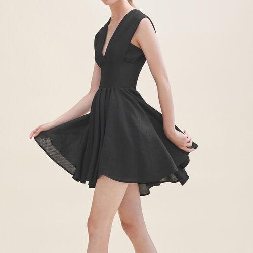 Vestido de patinadora sin mangas : Vestidos color Negro
