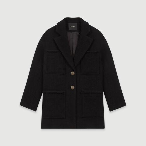Abrigo tipo tweed : Abrigos y Cazadoras color Negro