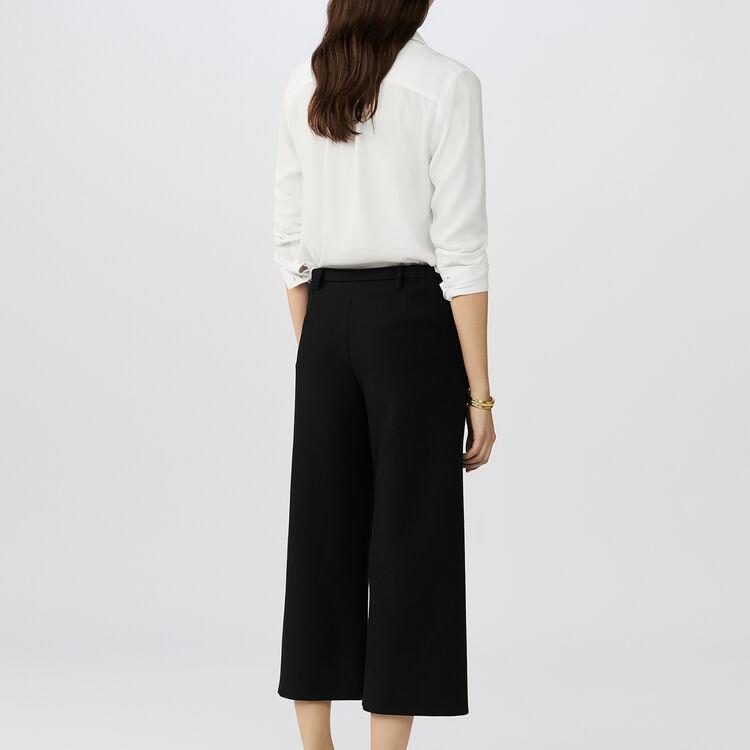Pantalón ancho sastre : Pantalones color Negro