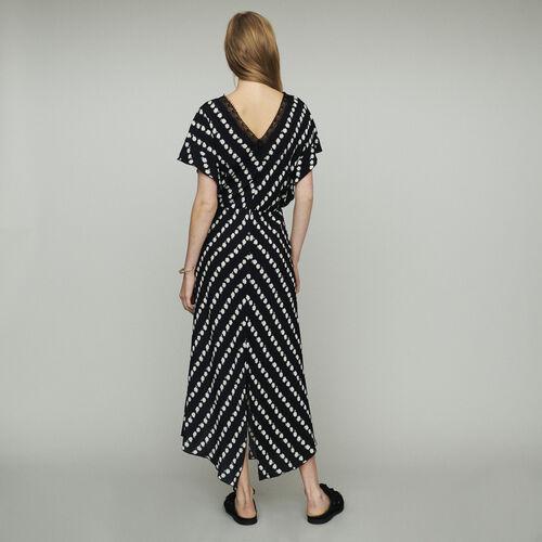 Vestido largo estampado margarita : Vestidos color IMPRIME