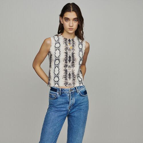 Jersey corto sin mangas estampado python : Jerseys y cárdigans color IMPRIME