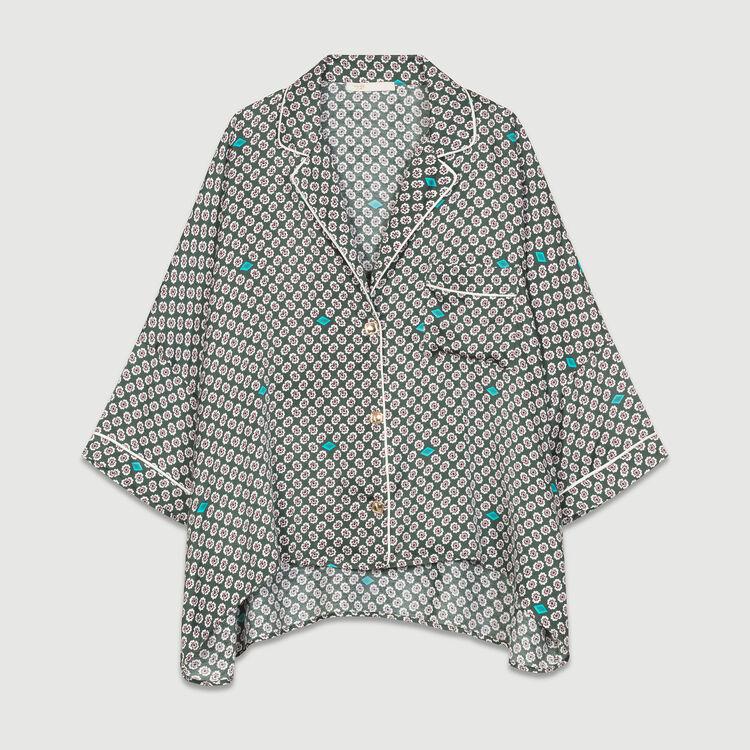 Camisa de raso estampada : Camisas color IMPRIME
