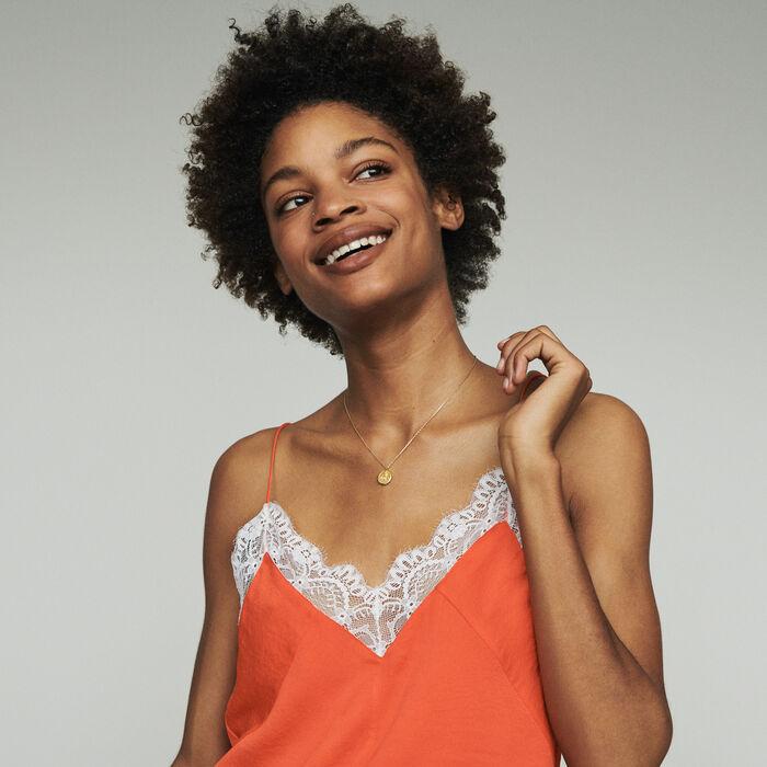 Caraco con encaje : Tops y Camisas color Naranja