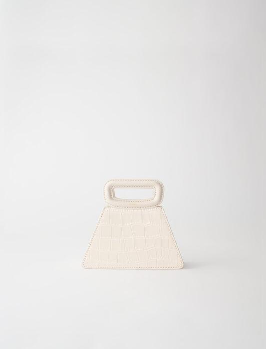 Mini bolso pirámide de piel estampada : Todas las bolsas color Crudo