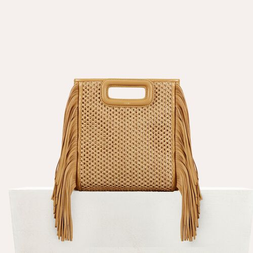 Bolso trenzado con flecos : -30% color NATUREL