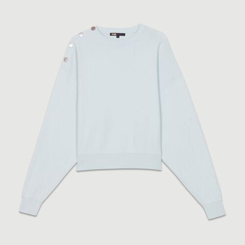 Jersey con botones en los hombros : Nueva Colección color BLEU CIEL