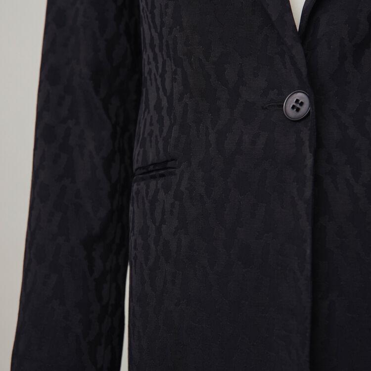 Chaqueta fluida en Jacquard de raso : Colección invierno color Negro