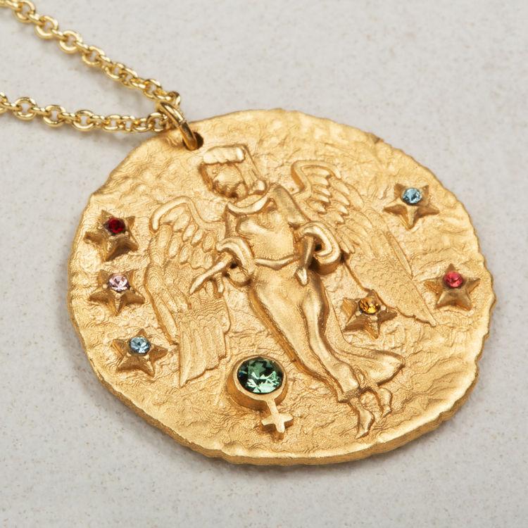 Collar de signo del Zodíaco Virgo : Bisuteria color OR