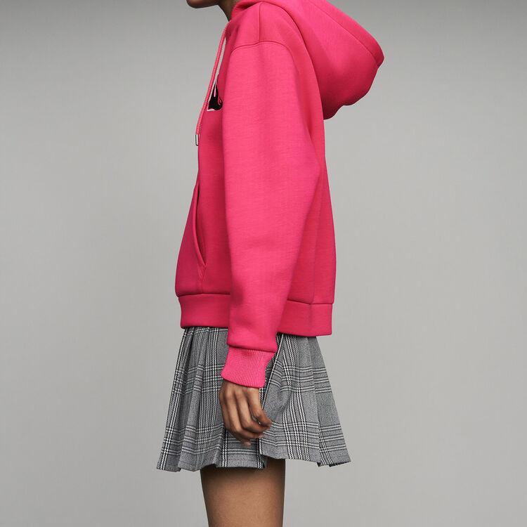 Sudadera oversize con capucha : Urban color Fucsia