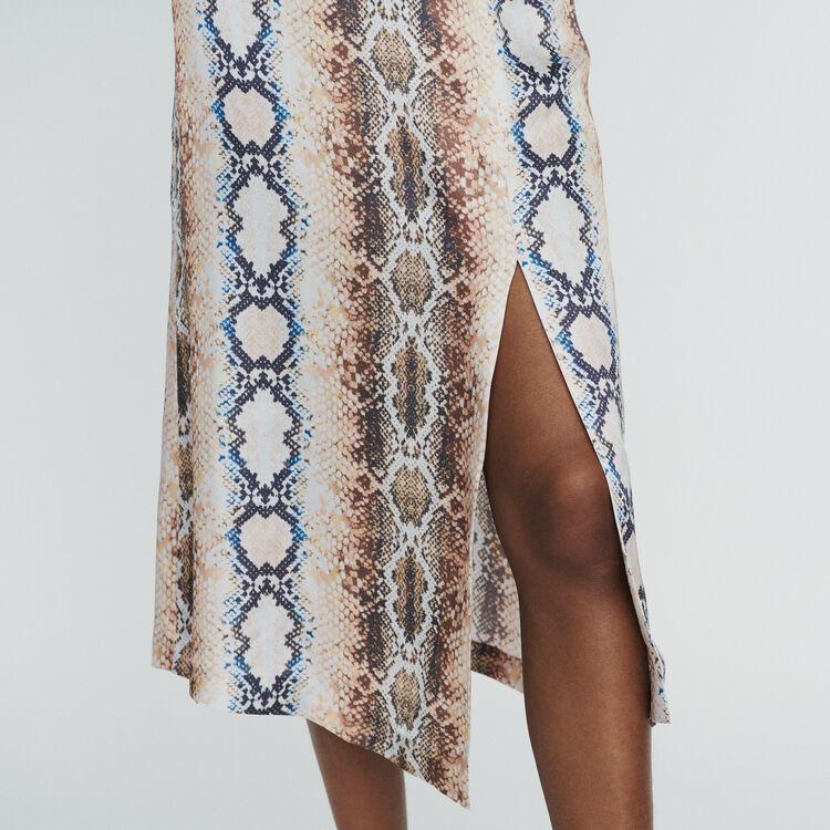 Falda larga estampada pitón : Faldas y shorts color IMPRIME
