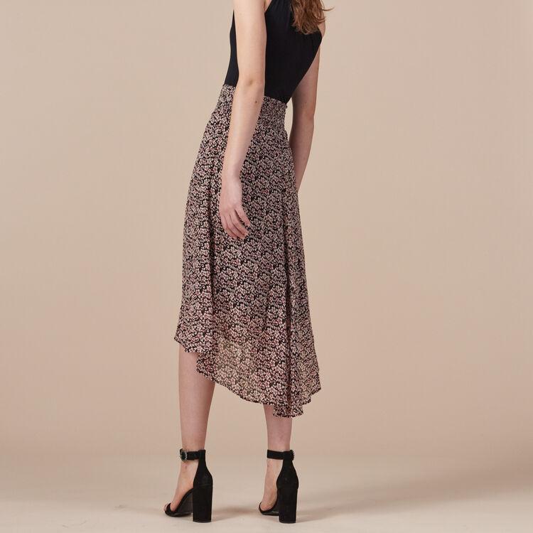 Falda larga asimétrica estampada - Dress Code - MAJE