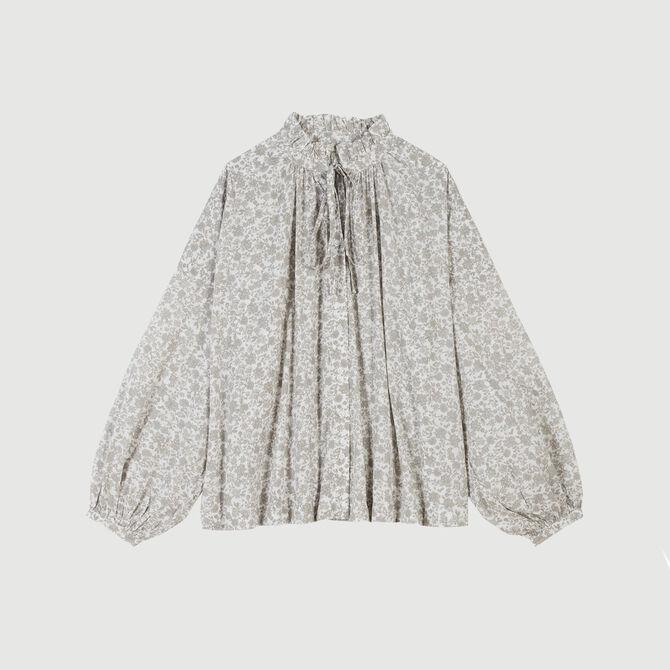 Blusa de algodón estampado floral - staff private sale 20 - MAJE
