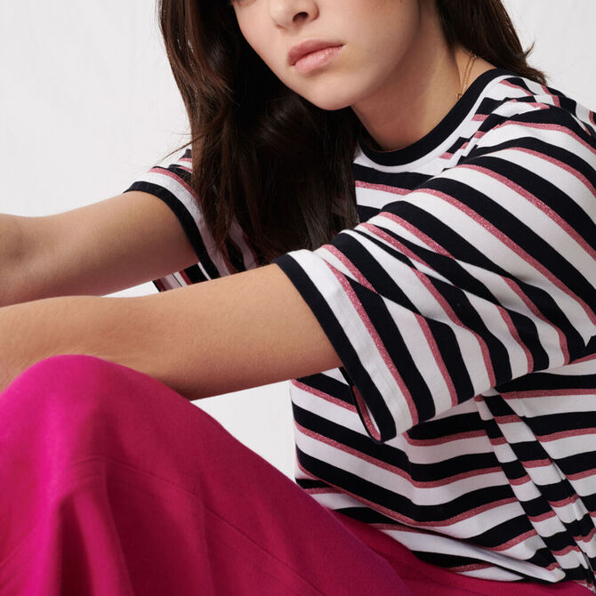 Camiseta de rayas tricolores -  - MAJE
