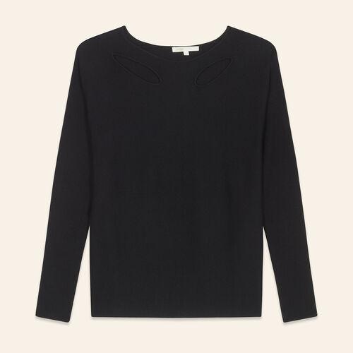 Jersey fino de mezcla de lana : Jerseys y cárdigans color Negro