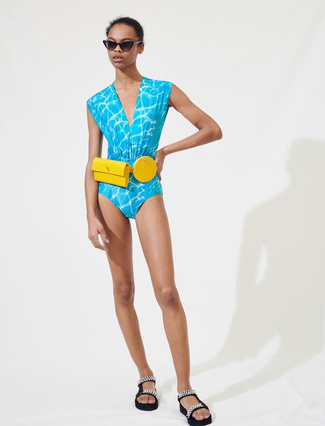 Bañador con estampado de piscina -  - MAJE