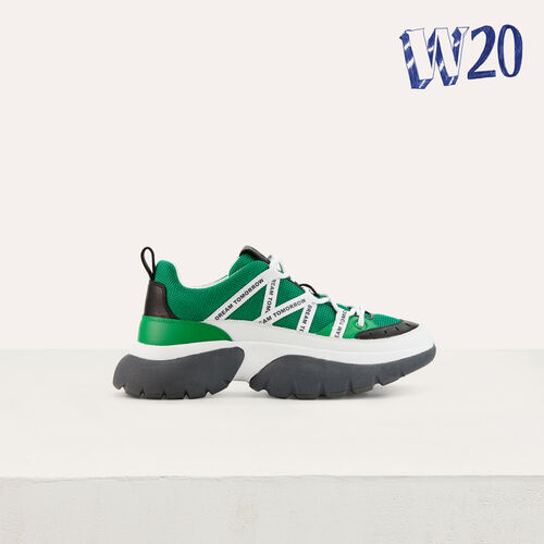 Sneakers W20 urbanas en nylon : Sneakers color Verde