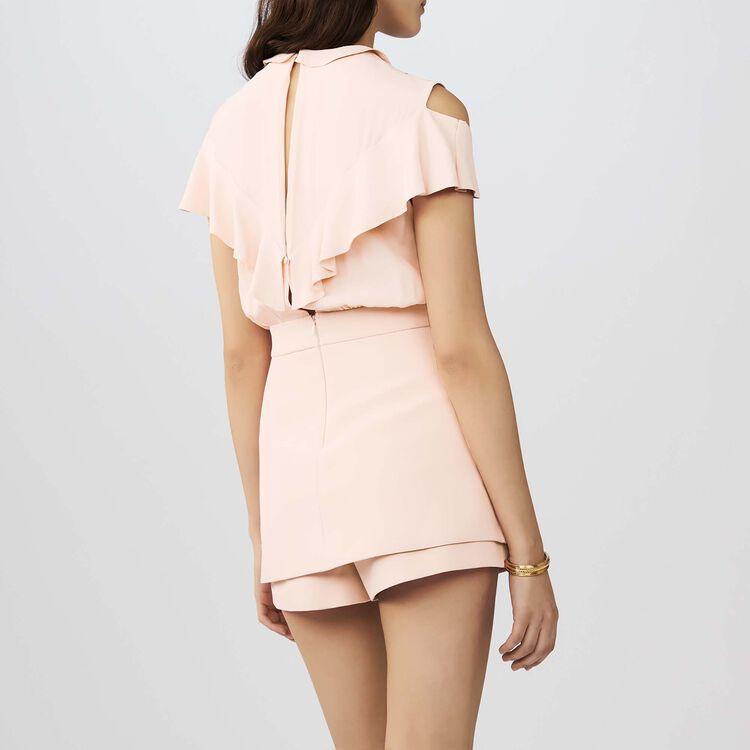 Mono-short de crepe y seda : Monos color Rosa
