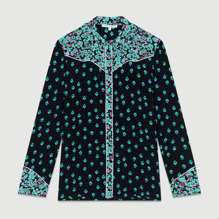 Camisa fluido estampada : Camisas color IMPRIME
