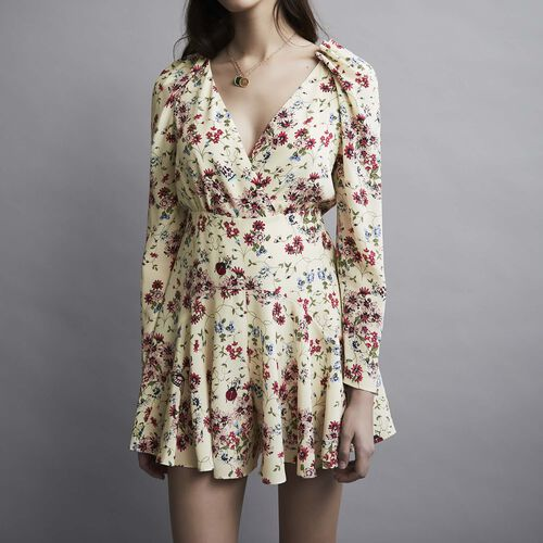 Silk printed playsuit : Faldas y shorts color IMPRIME