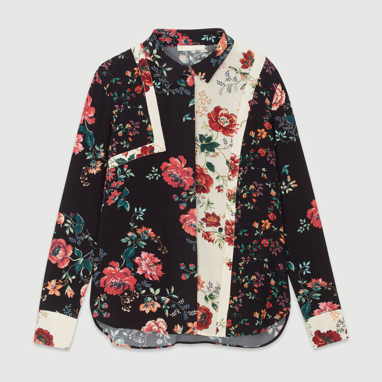 Blusa estampado tipo patchwork : Tops y Camisas color IMPRIME