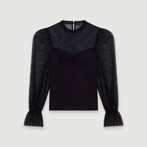 Tee-shirt trompe-l'œil : Tops y Camisas color Negro