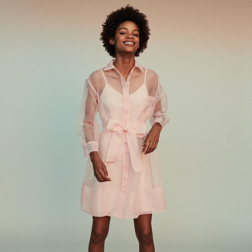 Organza shirt dress : Vestidos color Rosa Claro