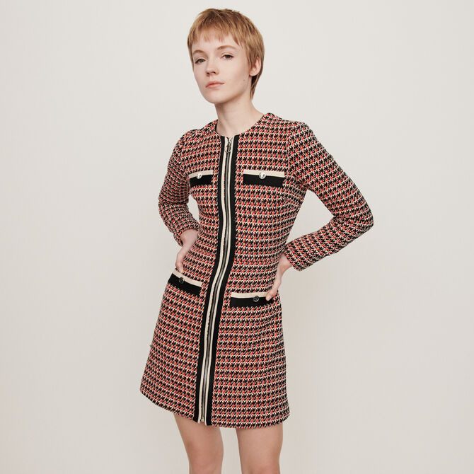 Vestido tipo tweed a contraste - staff private sale 20 - MAJE