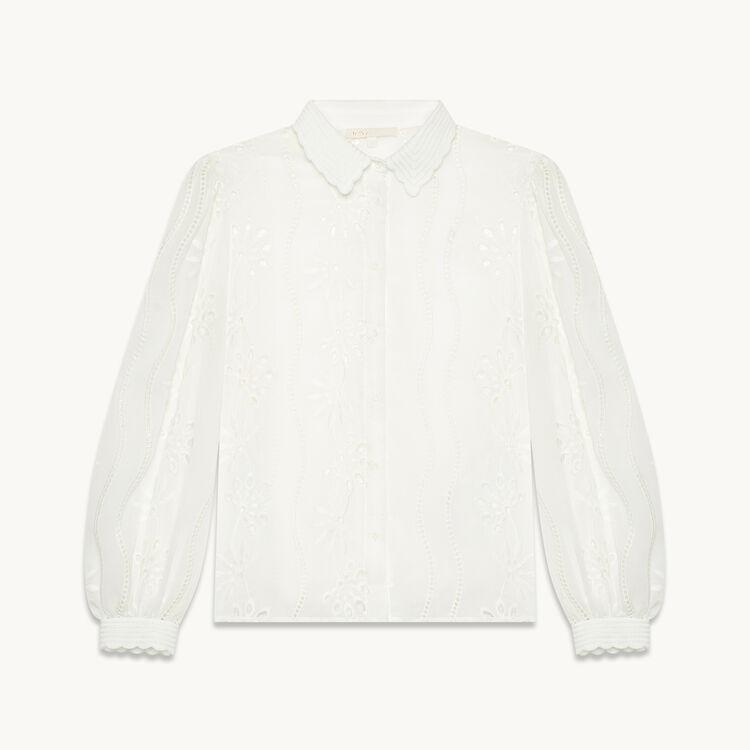 Camisa de encaje - Tops - MAJE