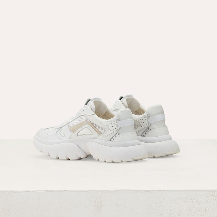 Sneakers W20 urbanas de cuero : Sneakers color Blanco