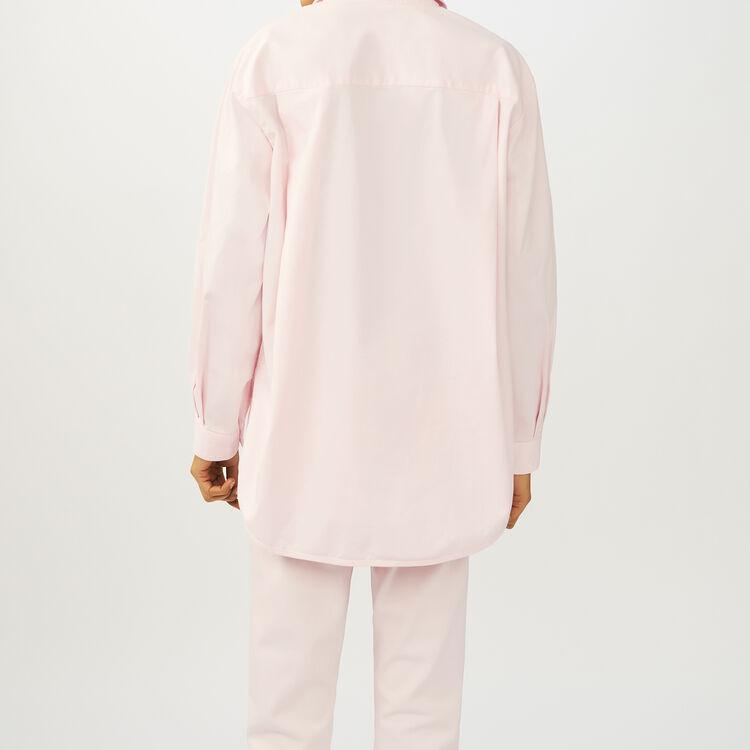 Camisa oversize Denim : Camisas color Rosa Claro