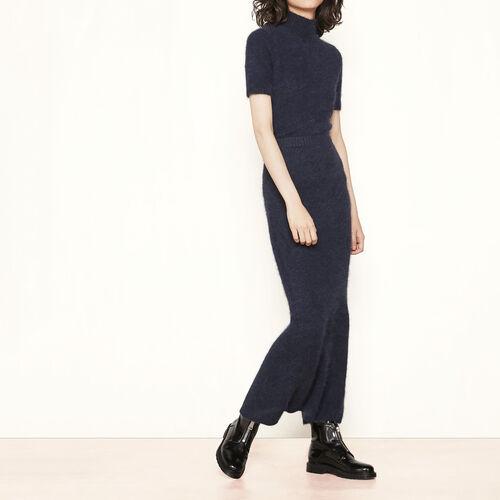 Falda larga de angora : Faldas y shorts color Azul Marino