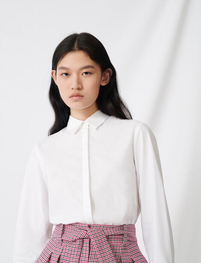 Camisa blanca de popelina - Tops y Camisas - MAJE