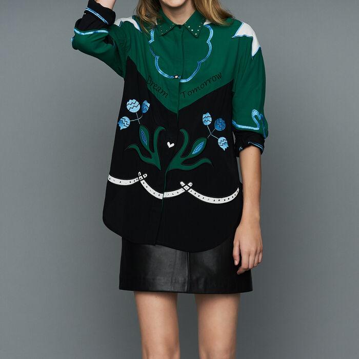 Camisa multicolores con bordados : Prêt-à-porter color Multicolor