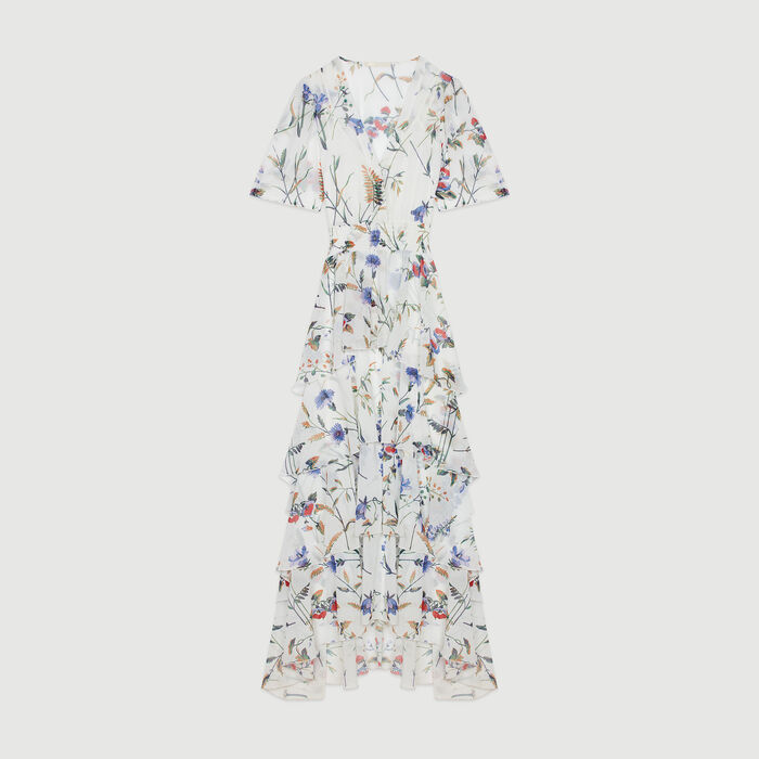 Printed long dress with ruffles : Campaña SS19 color IMPRIME