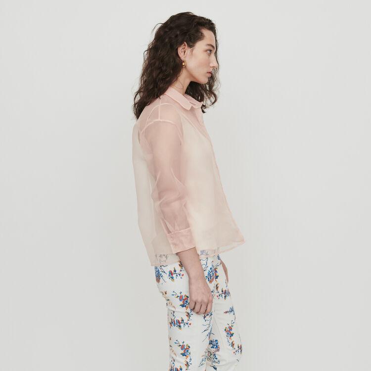 Blusa tipo organza : Tops y Camisas color Mandarina