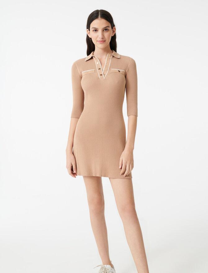 Vestido de punto tipo polo - Vestidos - MAJE