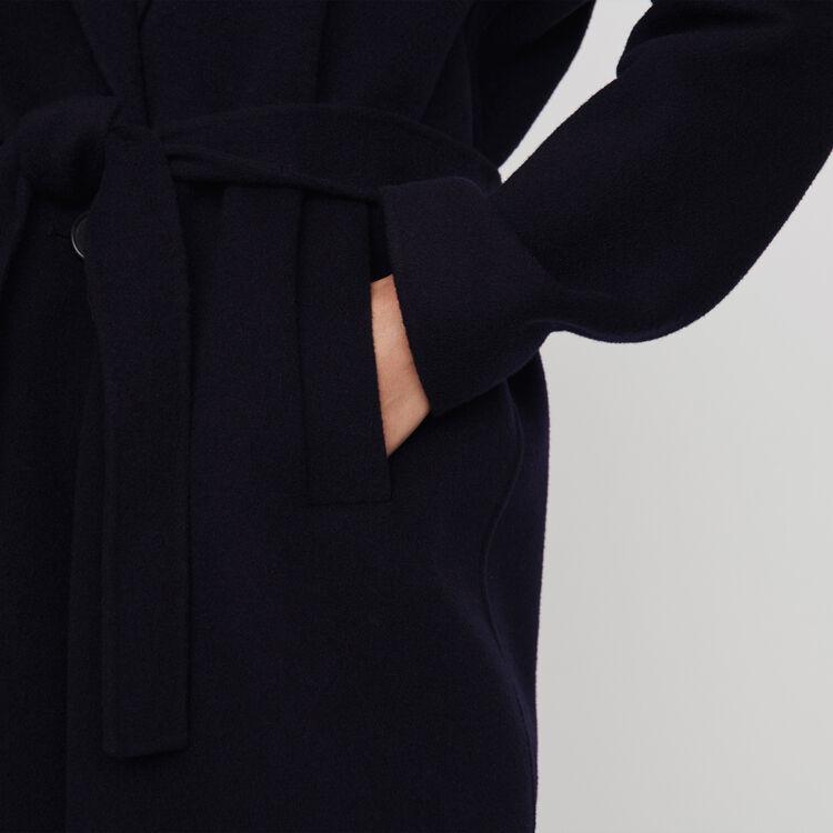 Abrigo doble faz con cinturón : Abrigos y Cazadoras color Azul Marino