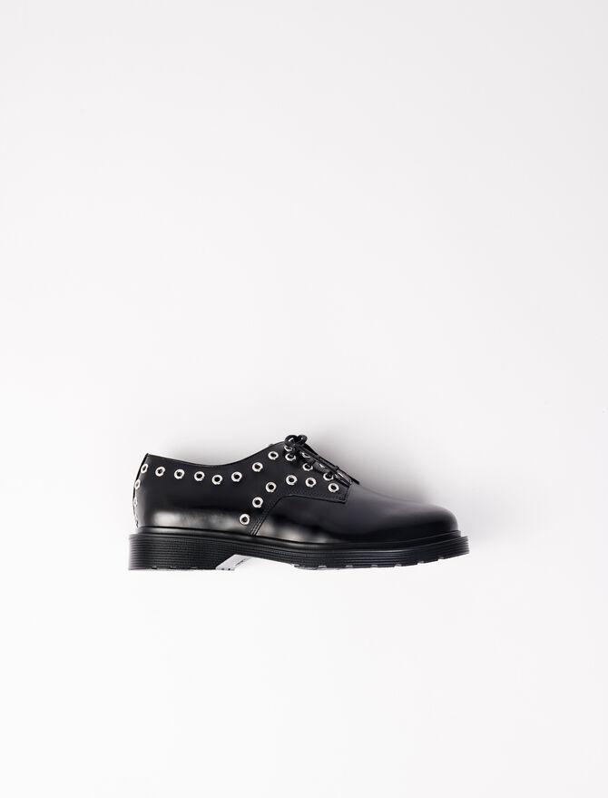 Derbies de piel lisa con ojales - Zapatos de tacón - MAJE