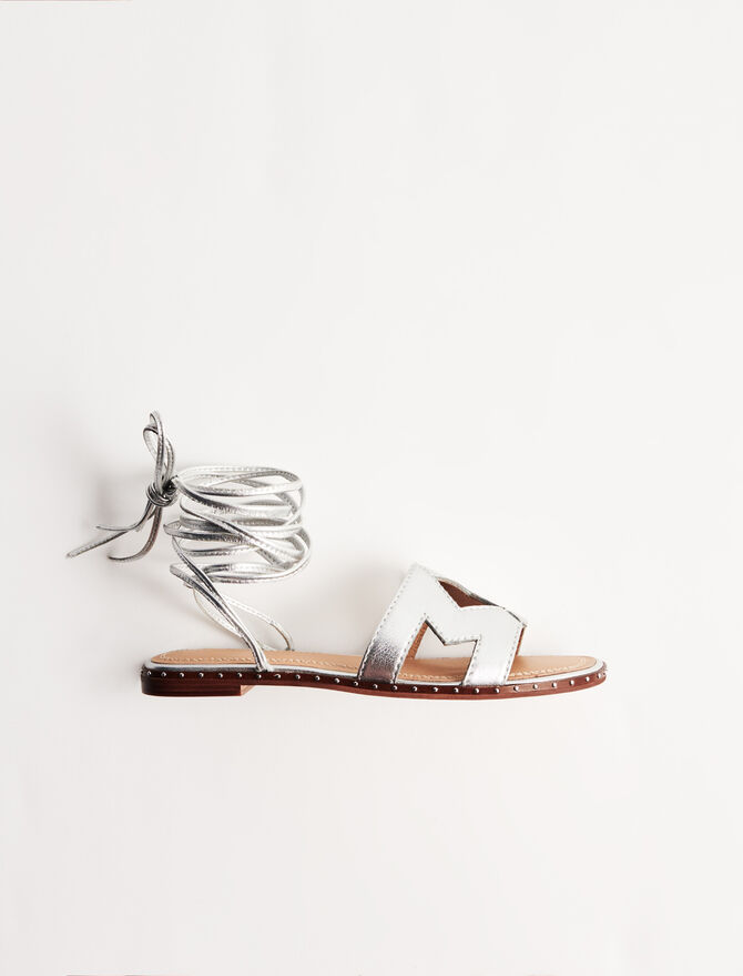 Sandalias anudadas de piel - Ver todo - MAJE