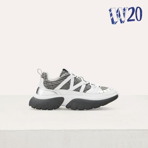 Sneakers W20 urbanas de cuadros : Sneakers color Multicolor