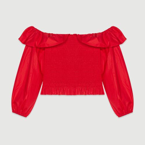 Top nido de abeja : Tops y Camisas color Rojo