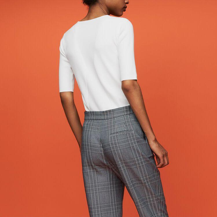 Jersey fino de manga corta : Nueva Colección color Blanco