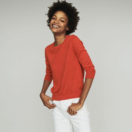 Jersey cuello redondo : Malla color Rojo