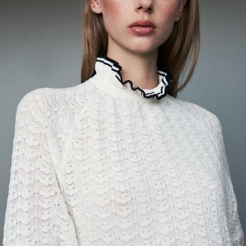 Jersey de punto espiguilla : Prêt-à-porter color ECRU