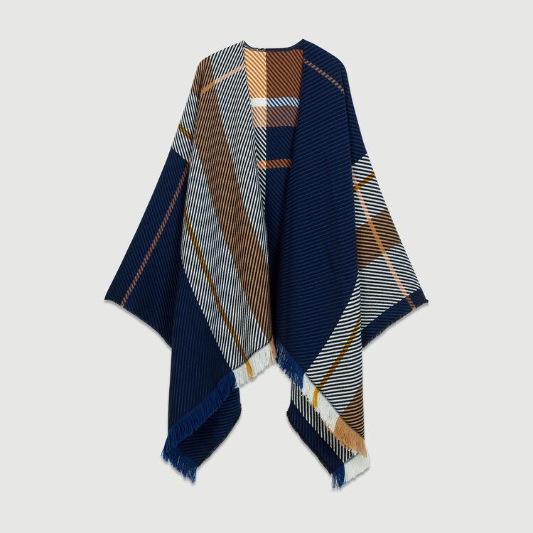Poncho de punto Jaquard : Pañuelos & Ponchos color Multicolor