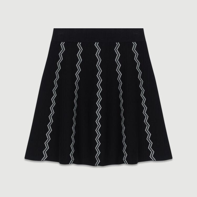 Falda patinadora de punto Jacquard : Faldas y shorts color Negro